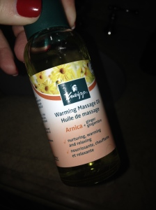 Kneipp warming massage oil with arnica and ginger a.k.a. Voodoo Love Oil