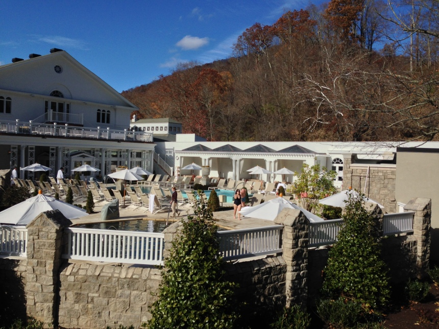 Canyon Ranch Spa pool at the Homestead in Warm Springs, VA
