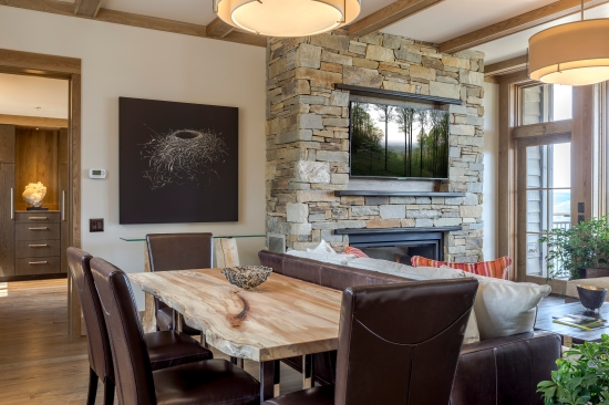 The larger suite has a grand livingroom for entertaining guests