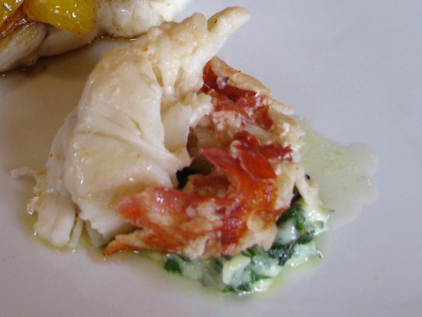 Lobster with Lemon-herbed butter