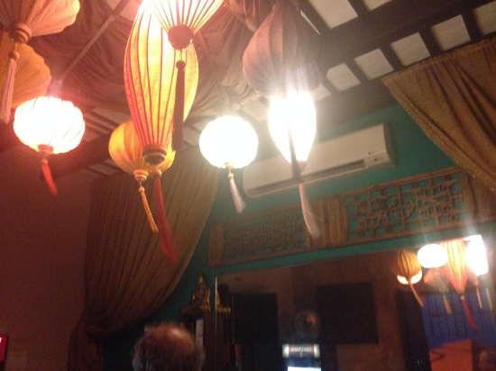Asian Lanterns and Big Screen TVs