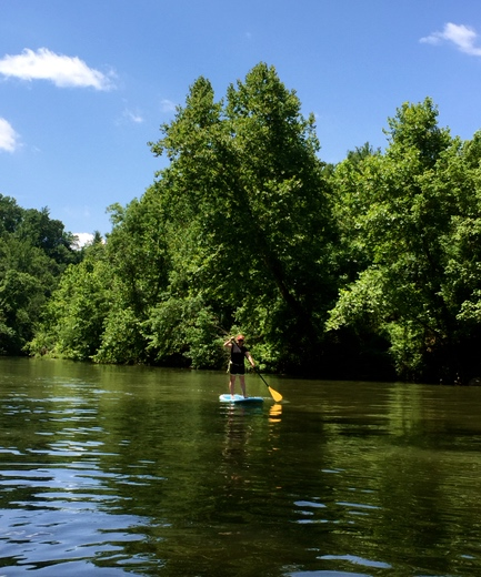 Stand up Paddle board lesson on the Roanoke River