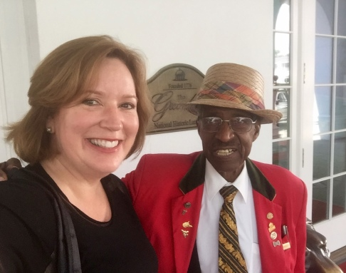 Frank Walker Mosley, the honorary Greenbrier ambassador and longest serving employee.