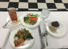 Wellness lunch, we learned to prepare these dishes, then we ate them.