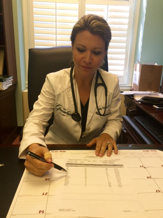 Dr. Kelly Redden Reviews my results